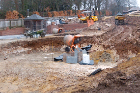 A Hampshire garden during construction to a design by Martyn Gingell